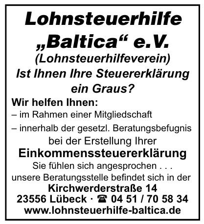 """Lohnsteuerhilfe """"Baltica"""" e.V."""