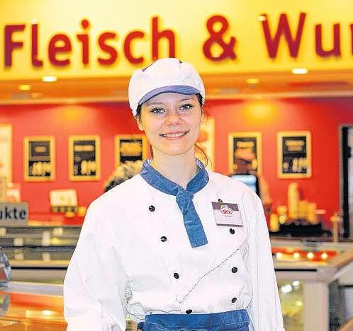 Kreativität und ein guter Draht zu den Kunden sind bei Vivien Bachmanns Ausbildung zur Fleischerei-Fachverkäuferin gefragt.