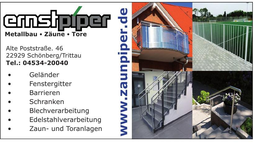 Ernst Piper Metallbau • Zäune • Tore
