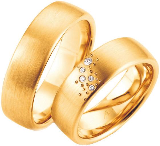Ob Rosé-, Rot-,Weißgold, mit oder ohne Steine, bei Juwelier Mahlberg finden Paare ihren perfekten Trauring. FOTO: HFR