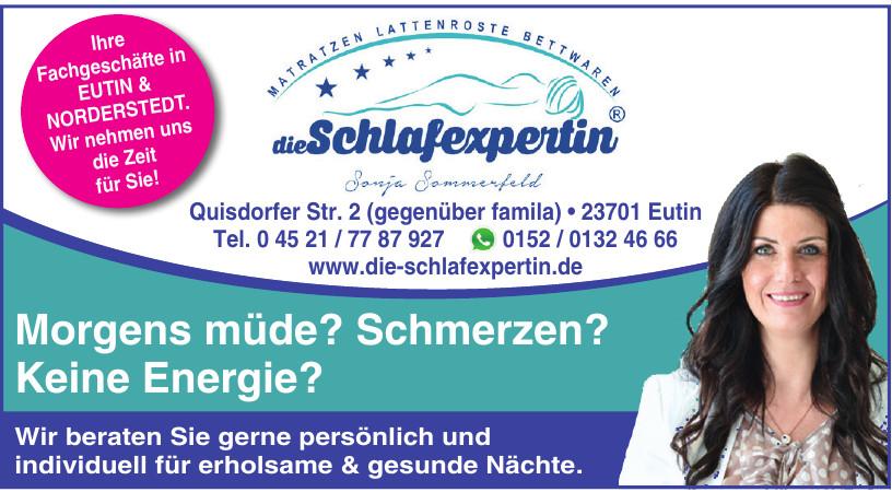 Die Schlafexpertin Sonja Sommerfeld