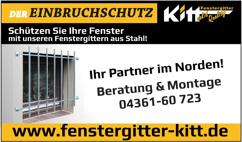 Fenstergitter Kitt