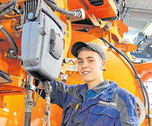 Für Hendrik Stempels (19) ist mit der Ausbildung zum Mechatroniker ein Wunsch in Erfüllung gegangen. Nutzfahrzeuge haben ihn schon immer fasziniert.