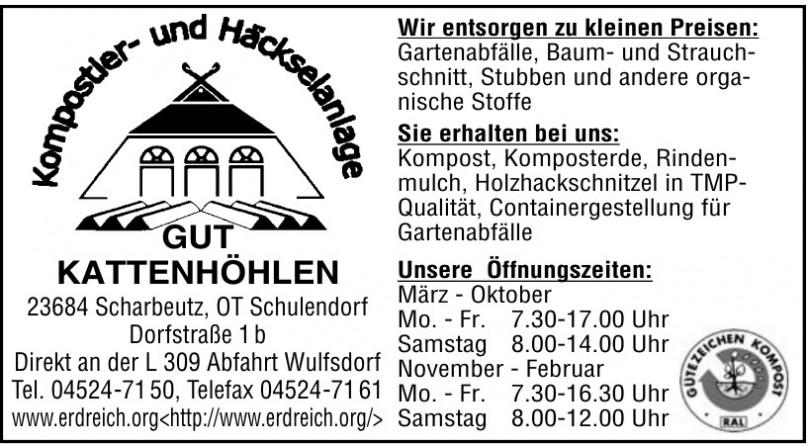 Kompostier- und Häckselanlage GUT KATTENHÖHLEN