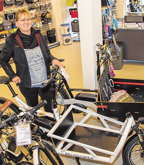 Lastenfahrräder liegen laut Heike Wiesehütter im Trend.