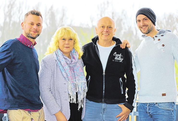 Ganz und gar Familienbetrieb: Christian, Regina, Bernd und Matthias Abel (v.li.).