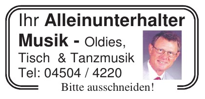 Oldies, Tisch & Tanzmusik
