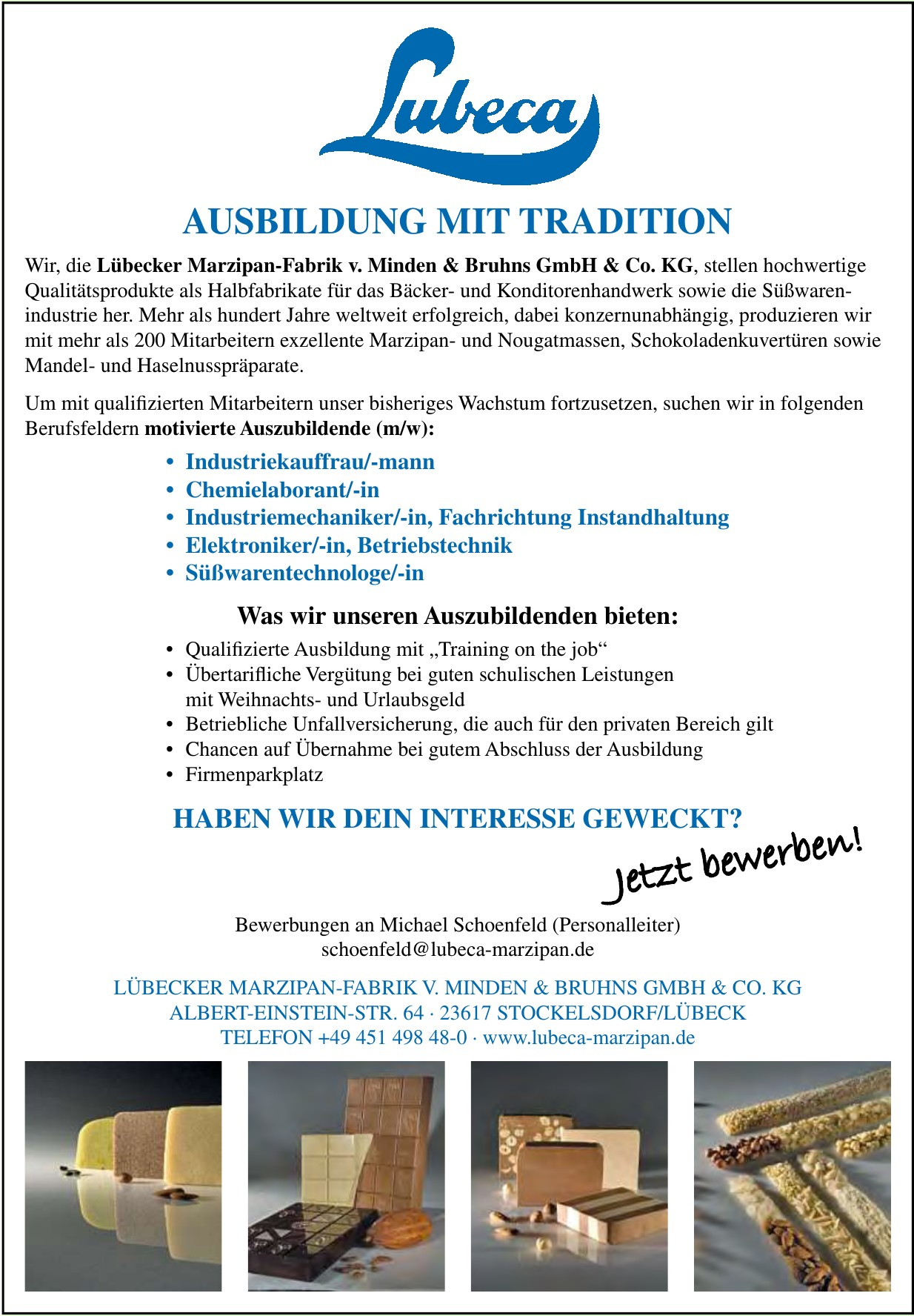 Lübecker Marzipan-Fabrik v. Minden & Bruhns GmbH & Co. KG