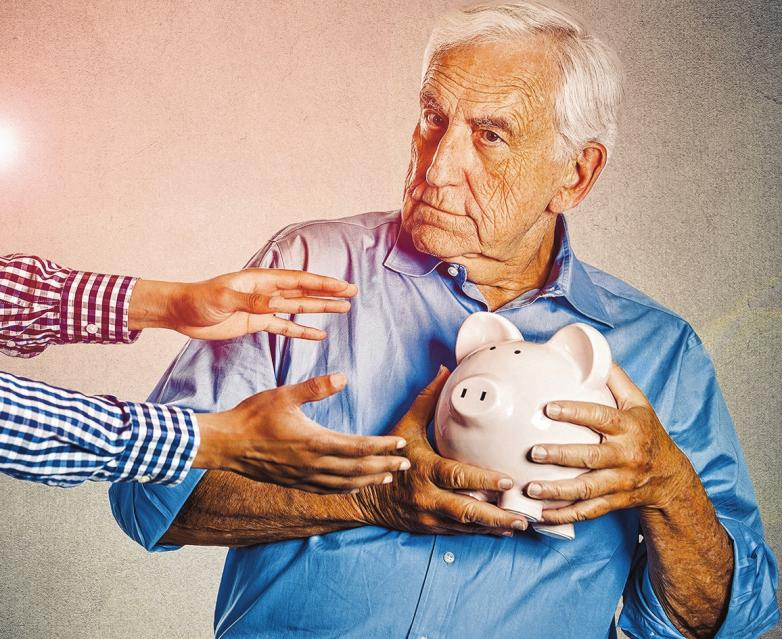 """Immer wieder bringen Trickbetrüger mit verbrecherischen Machenschaften ältere Menschen um ihr Geld oder ihre Wertgegenstände. Die Sparkasse Holstein veranstaltet daher zwei Aktionstage """"Schutz vor Trickbetrügern"""". FOTO: HFR"""