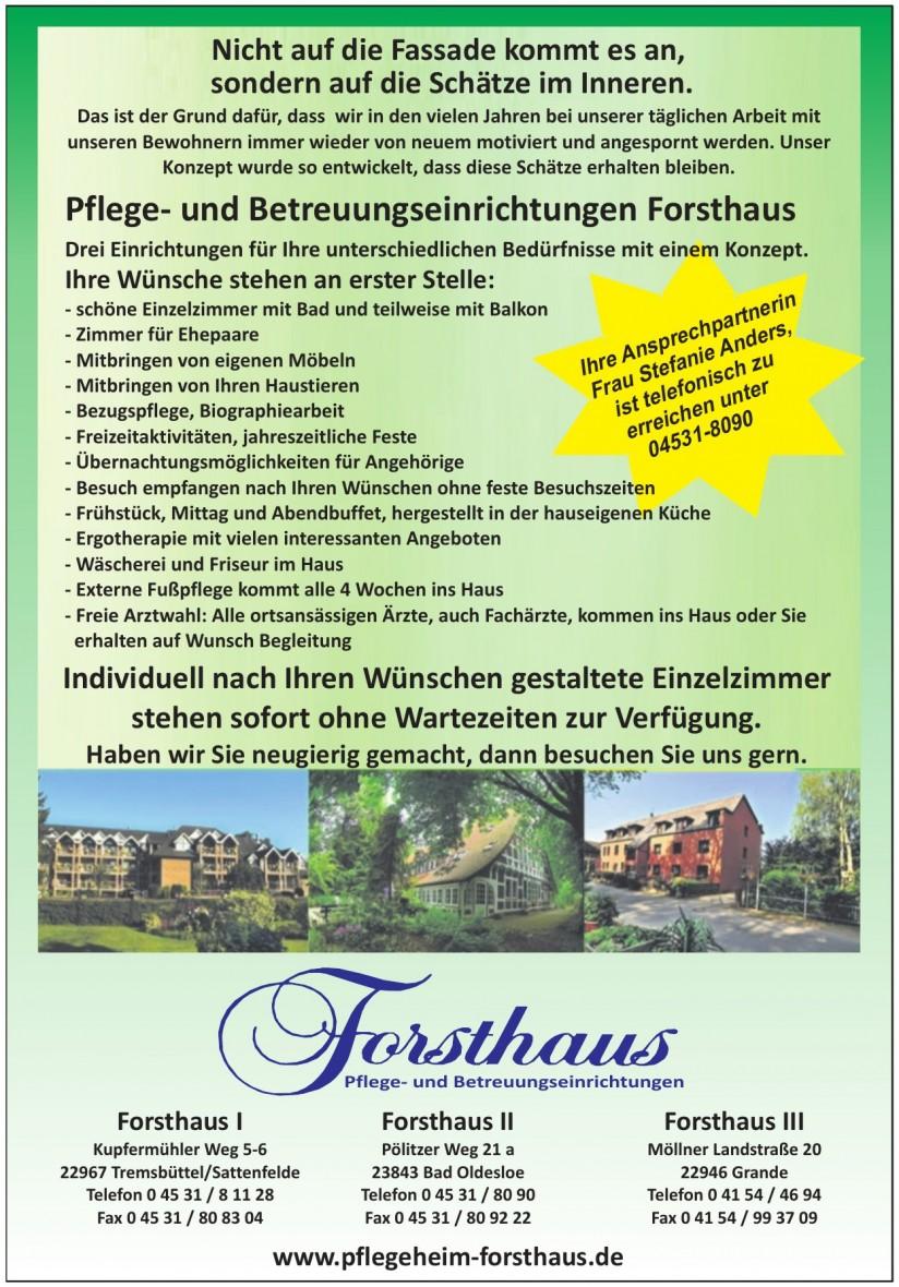 Forsthaus Pflege- und Betreuungseinrichtungen
