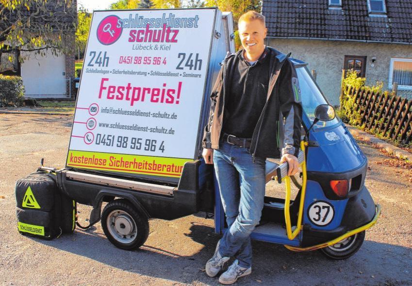 David Schultz erteilt eine kostenfreie und unverbindliche Sicherheitsberatung. FOTO: PHILIPP AISSEN
